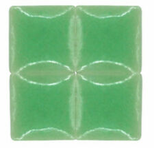 50 - 3/8 inch AVOCADO GREEN Ceramic Mosaic Tiles