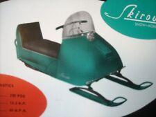 1966 Vintage SKIROULE Snowmobile Brochure