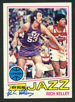 Rich Kelley #67 signed autograph auto 1977-78 Topps Basketball Trading Card