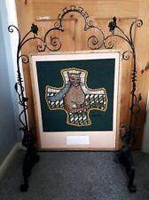 Antique Iron Framed Fire Screen Cross Stitch Dundonald Design
