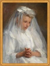 First Communion Caroline A. Lord Sakramente Erstkommunion Kind Kleid B A2 01014