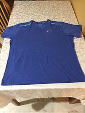Nike Dri Fit Men's Blue Size Xl Short Sleeve T Shirt Blue Athletic Running