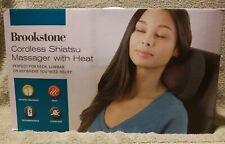 Brookstone Cordless Shiatsu Massager W/Heat Neck Lumbar or Anywhere Massage BNIB