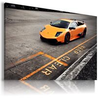 LAMBORGHINI MURCIELAGO ORANGE Sport Car Large Wall Canvas Picture AU238 MATAGA .