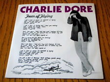 """CHARLIE DORE - FEAR OF FLYING  7"""" VINYL PS"""