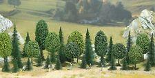 BUSCH 6590 Spur N / Z, Mischwald, 25 Tannen, 10 Laubbäume, 30 - 55 mm hoch, Neu