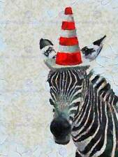 ABSTRACT PAINTING ZEBRA TRAFFIC CONE FUNNY COOL POSTER ART PRINT PICTURE BB238B
