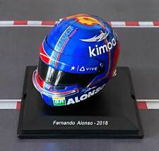 CASCO HELMET FERNANDO ALONSO 2018 F1 SPARK 1:5 NEW +FASCICOLO no MINICHAMPS