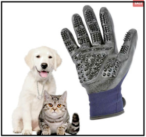 Soft Grooming Rubber Glove Hair Remover For Pets Shedding, Bathing and Massage