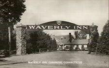 Cheshire CT Waverley Inn Real Photo Postcard