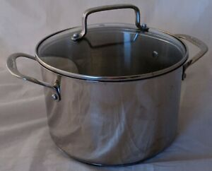 Cuisinart All Purpose Stock Stainless Steel Pot Pan 5.75 Qt w/Glass Lid 18/10