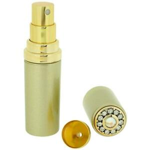 FMG Gold Tone 5ml Perfume Atomizer Made With Swarovski Crystals and Funnel SC768