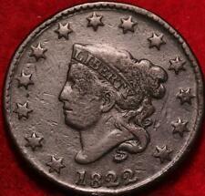1822 Philadelphia Mint Copper Coronet Head Large Cent