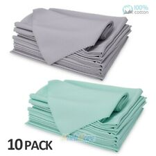 """Luxury Dinner Cloth Napkin 10 Pack Set Dining Table Accessory 18""""x 18"""" Absorbent"""