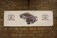 Toyota mr2 MK3 roadster spyder  pvc large WORK SHOP BANNER garage car