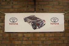toyota mr2 roadster  pvc large WORK SHOP BANNER garage car show banner