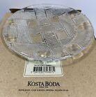 """Kosta Boda Glass Small Plate Criss Cross Pergola Pattern 7"""" Kjell Engman design"""