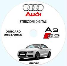 Audi A3 Cabriolet (8V),uso manutenzione + MMI (ITA) anno 2014/2016