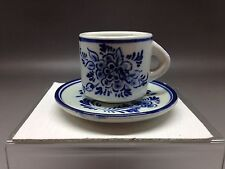 Miniatura Delft Blu & Bianco Coppa & Piattino 675