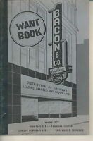 NF-083 - Bacon & Co, Knoxville, TN Want Book, 1940's to 1960's Vintage