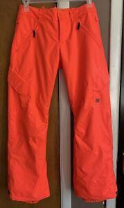 NWOT  DC Womens Recruit Pant Ski Snowboard Snow Pants Size Small 10K Orange