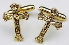 Crucifix Cufflinks Cuff Links Catholic Holy Cross