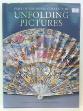 Antique Fans in the Royal Collection. Unfolding pictures book vintage fabric