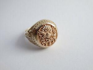 Herrenring Ring orientalisch 585 Gold Größe 61 (B926)