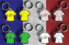 Tour de France t-shirt/jersey keyring Yellow, Polka Dot, Green, White 2018 cycle