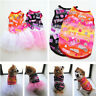 Pet Summer Cute Smile Shirt Skirt Small Puppy Dog Cat Dress Clothes Vest Costume