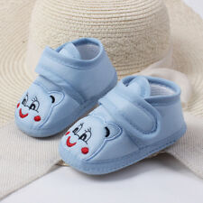 Cute Toddler Infant Baby Girls Boys Solid Soft Sole Prewalker Warm Cotton Shoes