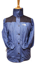 #412 The North Face Ladies Light Blue Vintage USA Hooded Raincoat Jacket, Small