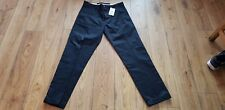 Mens Next Crafted Straight Fit Black Trousers Size 32L Bnwt Rrp 30.00