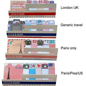 Travel Memo Pad paris london USA sticky paper Stickers Book Markers style gift