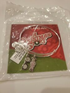 Alex And Ani Christmas Story You'll Shoot Your Eye Out Duo Charm Bangle Bracelet
