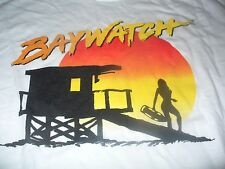 Baywatch  Men's SK Bay Watch Beach TV Show White T-Shirt Size Large L