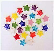 25 Multi Colored Handmade Mosaic Stars