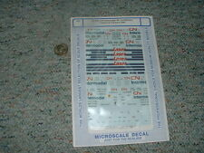 Microscale decals HO 87-664 CN Intermodel 48' containers trailers tr. 1991 D136