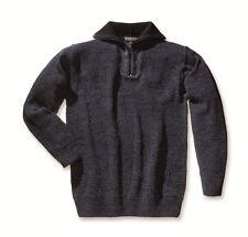 Troyer, Pullover,Freizeitkleidung,Arbeitskleidung,Größe XL,schwarz/blau,melliert