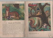 walt disney' s  BAMBI  quaderno scolastico anni 50