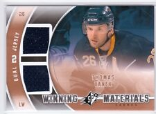 11-12 Upper Deck SPX Winning Materials Thomas Vanek Dual Jersey