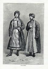 Old print jew Jews Tashkent Toshkent Uzbekistan 1880