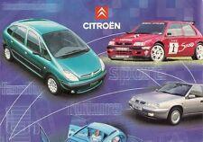 Citroen 1998 Motorshow UK Market Brochure Saxo Berlingo Xsara Picasso Xantia XM