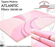 Tappeto Moderno ATLANTIC 120x180 cm Poliammide Alta Densità Pink Onde Bolle