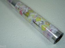 """1 Roll 20"""" x 100' Easter Bunny Designs Clear Cellophane Gift Wrap"""