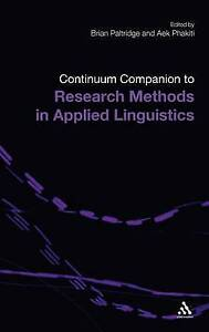 Continuum Companion to Research Methods in Applied Linguistics (Continuum Compan