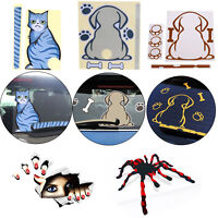 Car Rear Window Wiper Body Decal Sticker Dog/Cat/Spider/Girl with A Wagging Tail