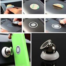 Universal Magnetic Car Mount Kit Sticky Stand Holder For Mobile Cell Phone Black