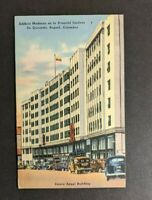 Vintage Zuleta Angle Building Colombia Picture Postcard Cover to NY USA