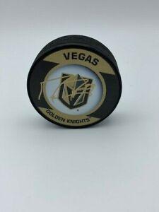 Marc Andre Fleury Las Vegas Golden Knights Signed NHL Puck COA Hologram